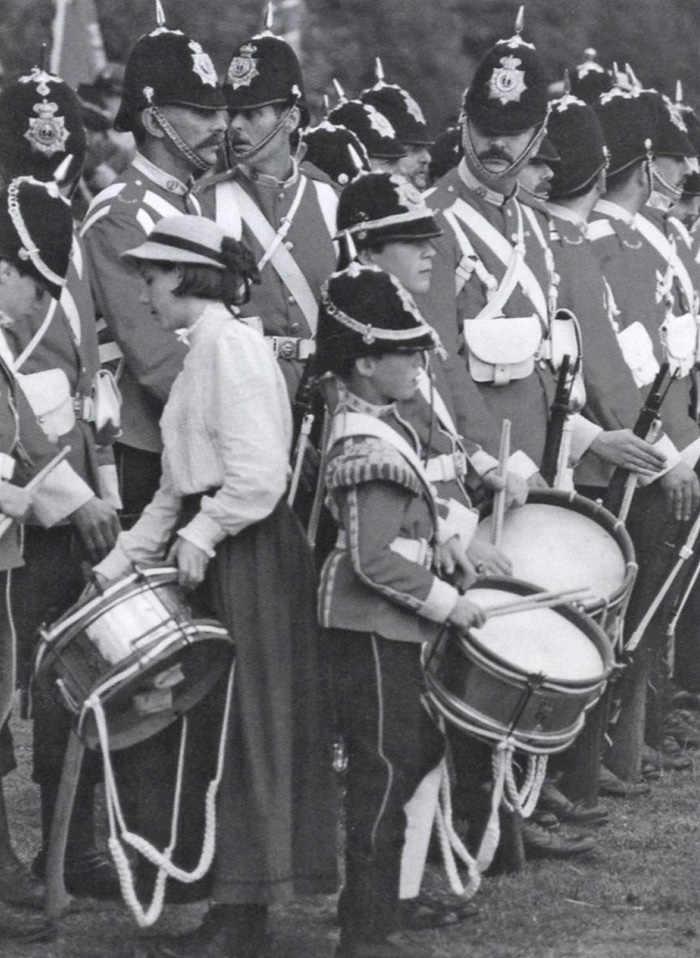 Late Victorian infantry as portrayed by the Die Hard Company