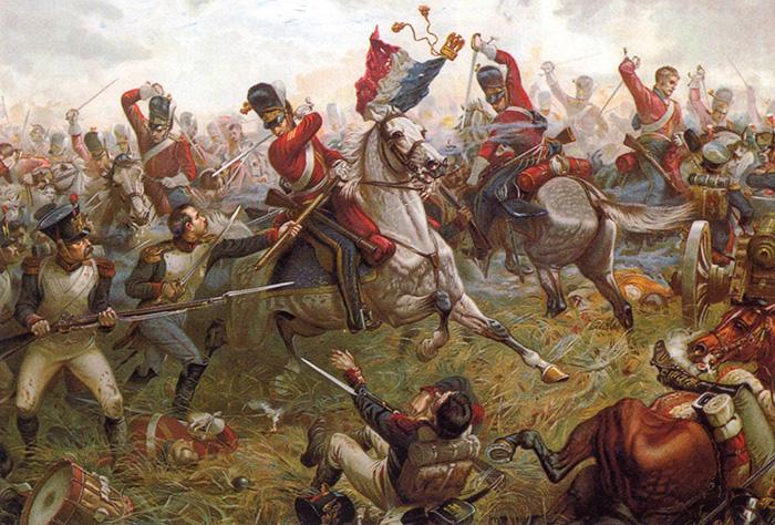 Sullivan's painting of the 2nd or Royal North British Dragoons at Waterloo