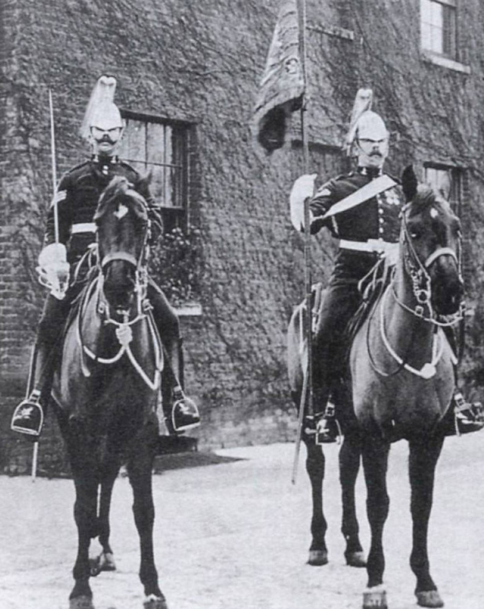Standard-bearer and escort of the 7th Dragoon Guards