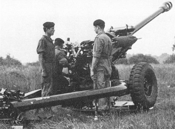 A 105mm light gun