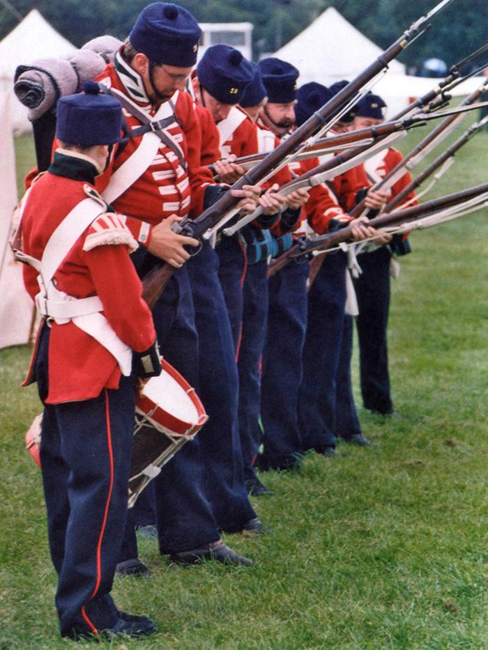 19th Regiment re-enactment team in 2005