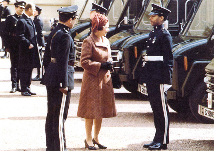 A royal visit to 20 Squadron Royal Corps of Transport, keepers of the Queen's baggage train